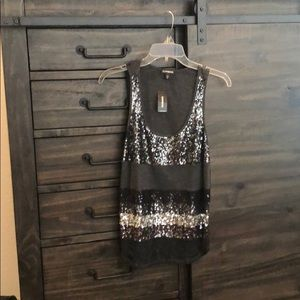 Sparkly gray Express tank